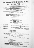 Programme for the concert