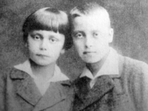With his brother Mirosław