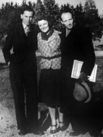With Eugenia Umińska and Witold Lutosławski